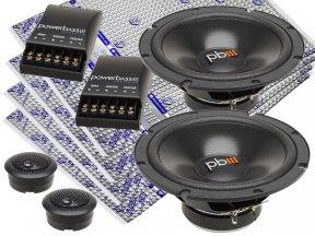 PowerBass S-60C + 4 maty Vibrofiltr PRO 2mm