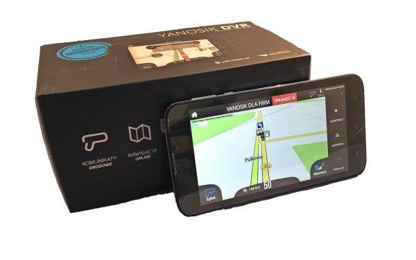 Yanosik DVR - asystent kierowcy z nawigacją GPS