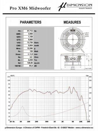 u-Dimension ProX M6 - głośniki średnio-niskotonowe