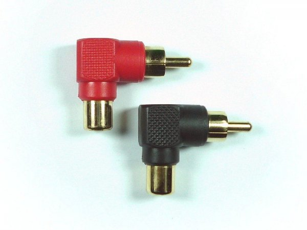 Hollywood RCA-R - kątowe konektory RCA
