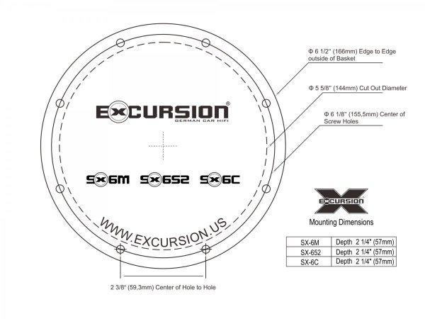 Excursion SX-652 - 2-drożne głośniki współosiowe