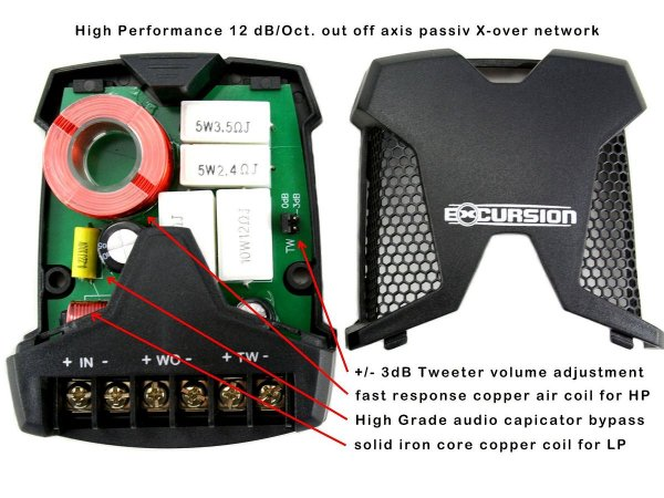 Excursion XXX-6C - zestaw głośników SPL 98/165mm