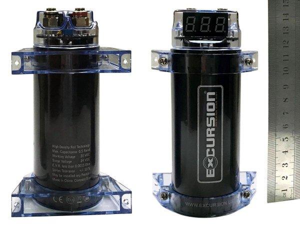 Excursion HX CAP - mini kondensator 0.5F, woltomierz