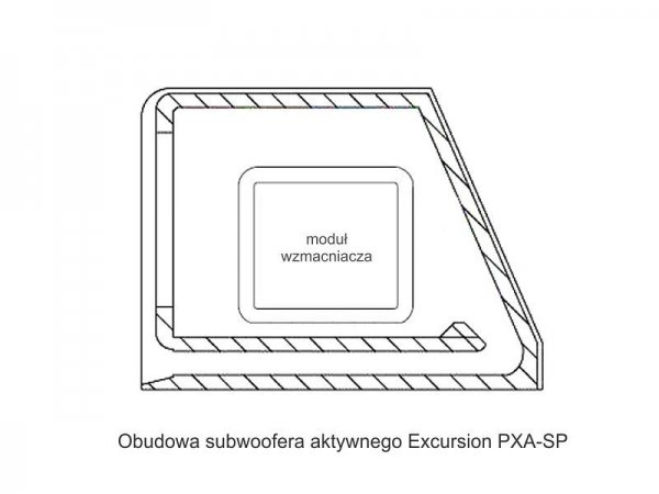 Excursion PXA-SP8 - subwoofer akt. bass-reflex 20cm
