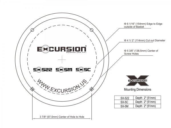 Excursion SX-5M - głośniki średnio-niskotonowe