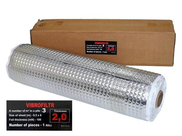 Vibrofiltr 2 mm - mata tłumiąca, rolka 50x600cm / 3m2