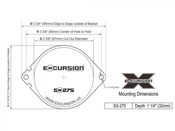 Excursion SX-275 - głośniki do Chrysler/Jeep/Dodge