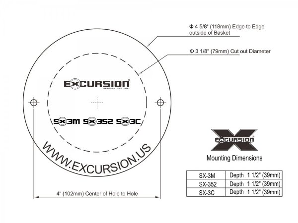 Excursion SX-3C - 2-drożny zestaw głośników