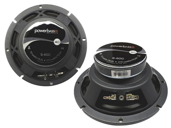 PowerBass S-60C + 4 maty tłumiące Vibrofiltr 2.0mm
