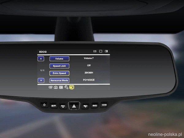 Neoline G-Tech X27 - rejestrator, lusterko, GPS, radary