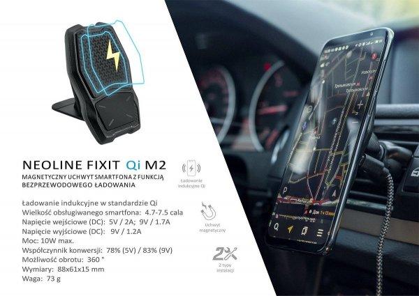 Neoline Fixit Qi M2 - uchwyt telefonu z ładowarką Qi