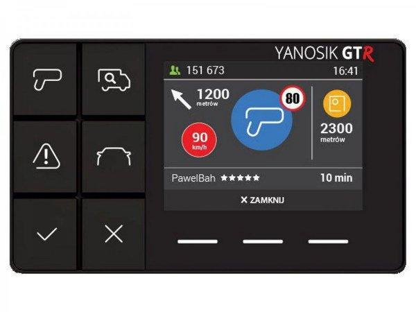 Yanosik GTR - asystent kierowcy, komunikator drogowy