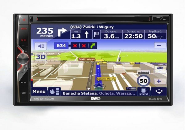 GMS 6751 Luxury DAB - stacja multimedialna