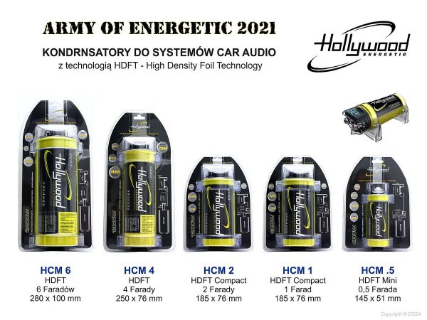 Hollywood HCM.5 HDFT - kondensator 0.5F, woltomierz