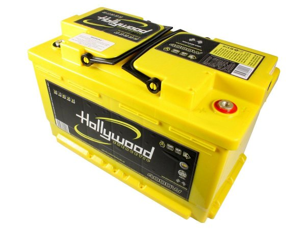 Hollywood DIN-80 - akumulator DIN AGM - 80Ah