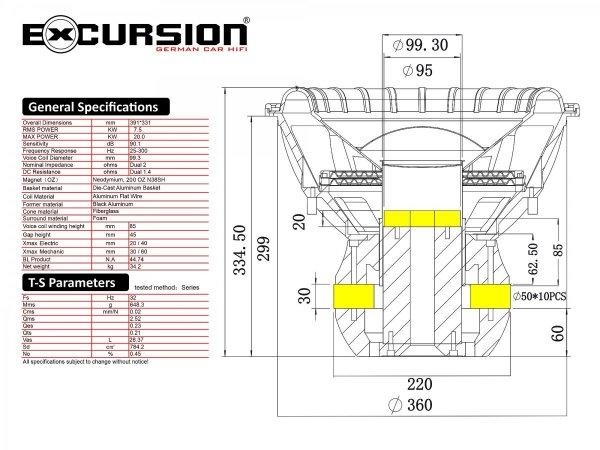 Excursion TXN-15D2 - subwoofer do zastosowań SPL